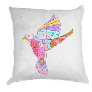Pillow Bird with curls - PrintSalon