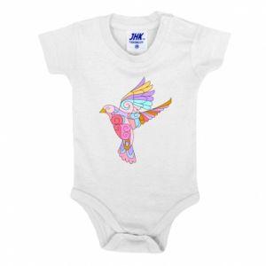 Baby bodysuit Bird with curls - PrintSalon