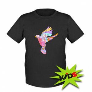 Kids T-shirt Bird with curls - PrintSalon