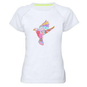 Women's sports t-shirt Bird with curls - PrintSalon
