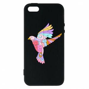 Phone case for iPhone 5/5S/SE Bird with curls - PrintSalon