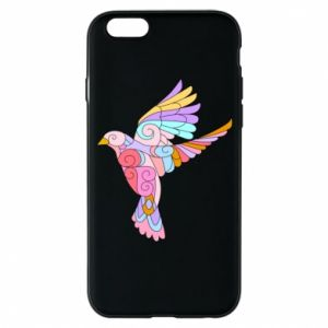 Phone case for iPhone 6/6S Bird with curls - PrintSalon