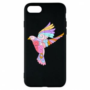 Phone case for iPhone 7 Bird with curls - PrintSalon