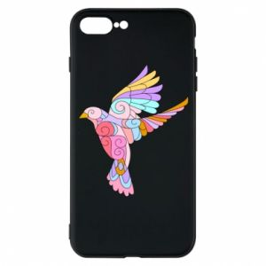 Phone case for iPhone 7 Plus Bird with curls - PrintSalon