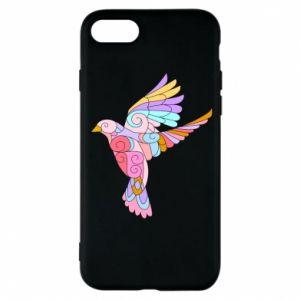 Phone case for iPhone 8 Bird with curls - PrintSalon