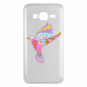 Phone case for Samsung J3 2016 Bird with curls - PrintSalon