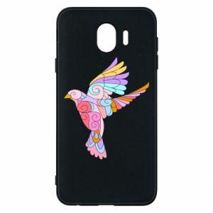 Phone case for Samsung J4 Bird with curls - PrintSalon