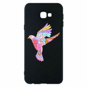 Phone case for Samsung J4 Plus 2018 Bird with curls - PrintSalon