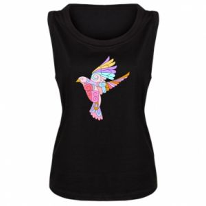 Women's t-shirt Bird with curls - PrintSalon