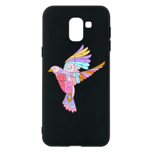 Phone case for Samsung J6 Bird with curls - PrintSalon
