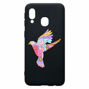 Phone case for Samsung A40 Bird with curls - PrintSalon