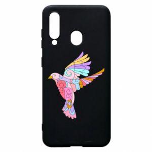Phone case for Samsung A60 Bird with curls - PrintSalon