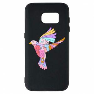 Phone case for Samsung S7 Bird with curls - PrintSalon