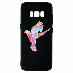 Phone case for Samsung S8 Bird with curls - PrintSalon