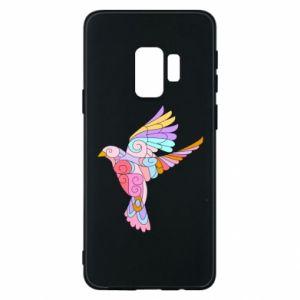 Phone case for Samsung S9 Bird with curls - PrintSalon