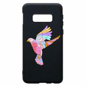 Phone case for Samsung S10e Bird with curls - PrintSalon