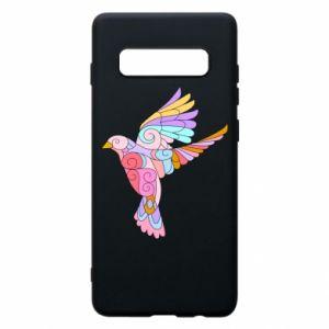 Phone case for Samsung S10+ Bird with curls - PrintSalon