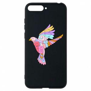 Phone case for Huawei Y6 2018 Bird with curls - PrintSalon