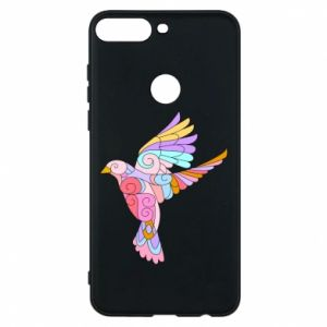 Phone case for Huawei Y7 Prime 2018 Bird with curls - PrintSalon