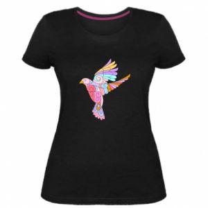 Women's premium t-shirt Bird with curls - PrintSalon