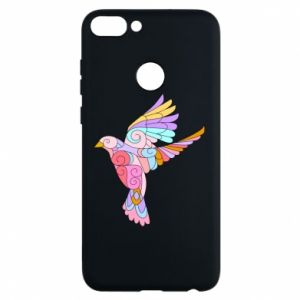 Phone case for Huawei P Smart Bird with curls - PrintSalon