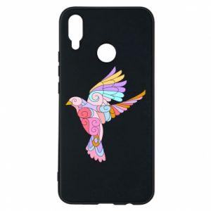 Phone case for Huawei P Smart Plus Bird with curls - PrintSalon