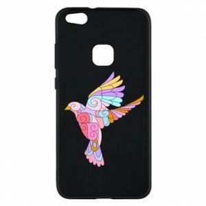 Phone case for Huawei P10 Lite Bird with curls - PrintSalon