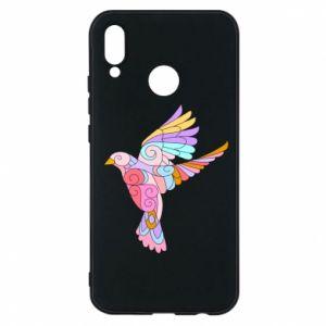 Phone case for Huawei P20 Lite Bird with curls - PrintSalon