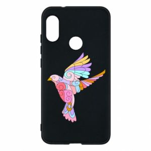 Phone case for Mi A2 Lite Bird with curls - PrintSalon