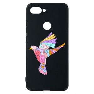 Phone case for Xiaomi Mi8 Lite Bird with curls - PrintSalon