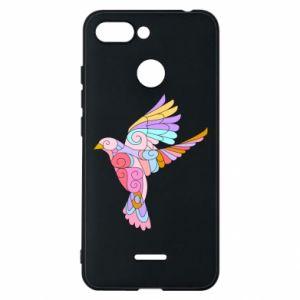 Phone case for Xiaomi Redmi 6 Bird with curls - PrintSalon