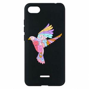 Phone case for Xiaomi Redmi 6A Bird with curls - PrintSalon
