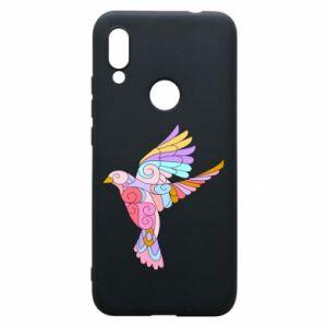 Phone case for Xiaomi Redmi 7 Bird with curls - PrintSalon
