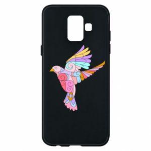 Phone case for Samsung A6 2018 Bird with curls - PrintSalon