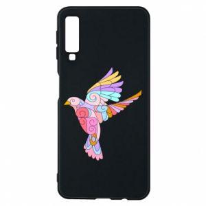 Phone case for Samsung A7 2018 Bird with curls - PrintSalon