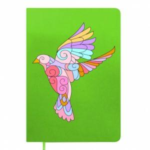 Notepad Bird with curls - PrintSalon