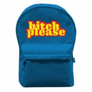 Plecak z przednią kieszenią Bitch please