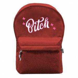 Plecak z przednią kieszenią Bitch
