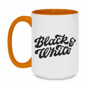 Kubek dwukolorowy 450ml Black and white