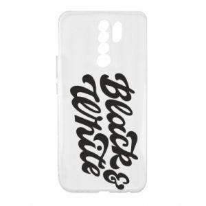 Etui na Xiaomi Redmi 9 Black and white