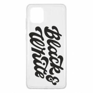 Etui na Samsung Note 10 Lite Black and white