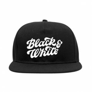Snapback Black and white