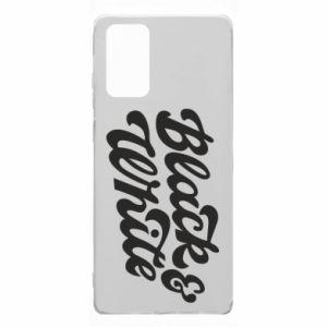 Etui na Samsung Note 20 Black and white