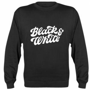 Bluza (raglan) Black and white
