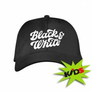 Dziecięca czapeczka z daszkiem Black and white