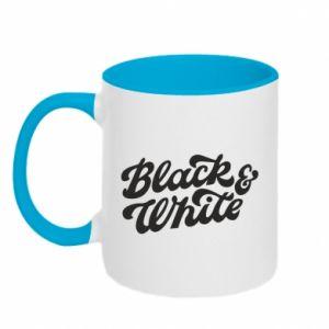 Kubek dwukolorowy Black and white
