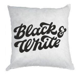 Poduszka Black and white