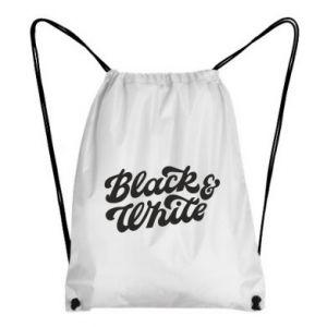 Plecak-worek Black and white