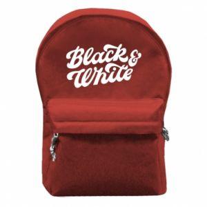 Plecak z przednią kieszenią Black and white
