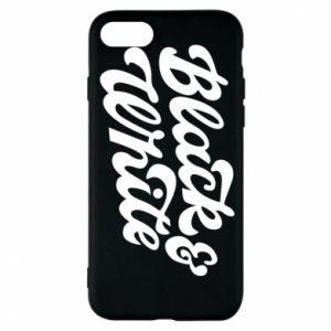Etui na iPhone 8 Black and white